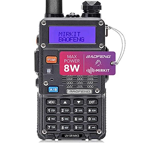 Mirkit Radio UV-5R MK5 8 Watt Max Power 2021 1800 mAh Li-Ion Battery Pack Analog Police Scanner, Race Scanner, Emergency Radio, fire Scanner for Home use