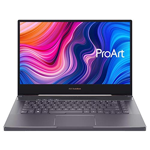 "ASUS ProArt StudioBook 15 Mobile Workstation Laptop, 15.6"" 4K UHD NanoEdge Bezel, Intel Core i7-9750H, 32GB DDR4, 512G+512GB RAID 0 SSD, NVIDIA GeForce RTX 2060, Windows 10 Pro, Star Grey, H500GV-XS76"