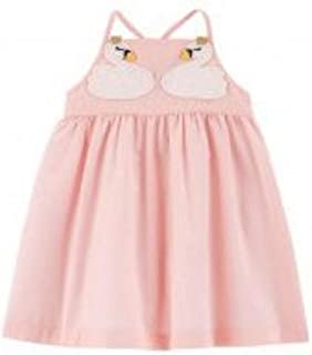 Pink Swan Tank Dress with Diaper Cover