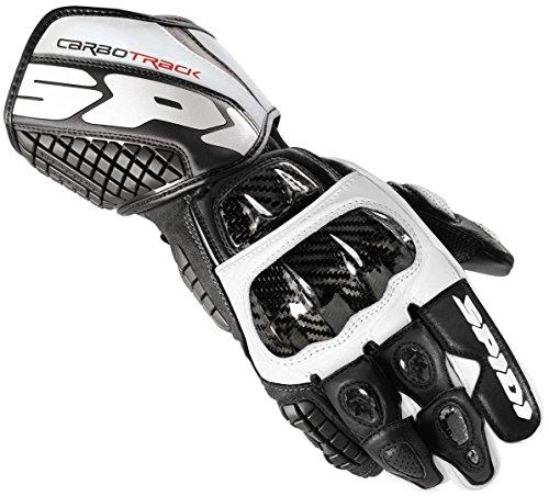 Spidi Carbo Track Handschuhe L Schwarz/Weiß
