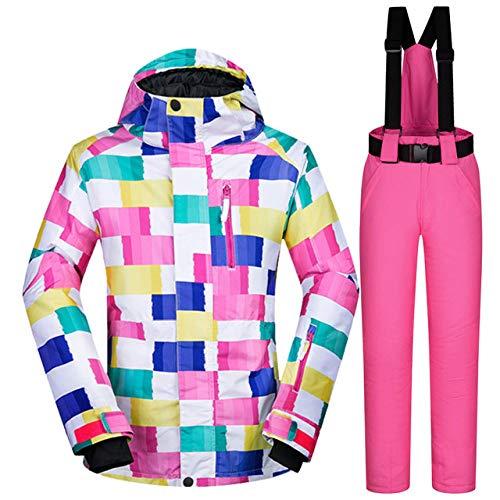 Skipak JSGJHXFWomen skipak merk winter hoge kwaliteit warme waterdichte winddichte kleding sneeuwbroek en jas ski- en snowboardpakken