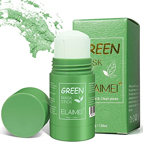 Green Tea Purifying Clay Stick Mask, Maschera In Stick Al Tè Verde, Oil Control Solid Mask Maschera idratante per Pulizia Profonda