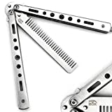 BOKHAMMER - Silver Silber Butterfly Balisong Trainer Übung Messer Kamm