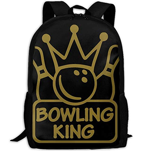 XCNGG Bowling King Fashion Outdoor Shoulders Bag Durable Travel Camping Mochila para adultos