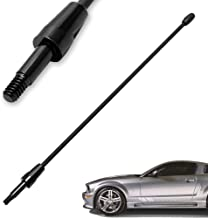 KSaAuto Antenna Compatible with 1979-2009 Ford Mustang | 8 inches Premium Metal Antenna Mast Replacement | Designed for Optimized FM/AM Radio Reception