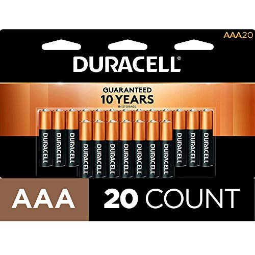 Duracell Coppertop AAA Batteries - 20 Pack Alkaline Battery