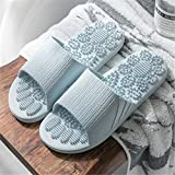 Non Slip Women Massage Slippers Summer Fashion Indoor Outdoor Flip Flops Woman Shoes Beach Bathroom Slipper Men Slide (9, Gray)-Lightblue-8