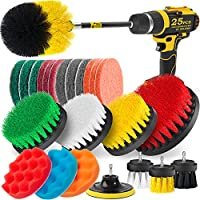 Holikme 19Piece Drill Brush Attachments Set,Scrub Pads & Sponge, Power Scrubber Brush with Extend Long Attachment All...