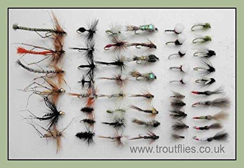 50mouches de pche truite mixte, sche, les nymphes, les...