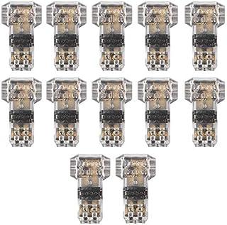 scheda tancuder 12 pcs connettori a filo t tipo a 2 pin in plastica senza filo connettori a bassa tensione per cavi elettrici 20-22awg connettori filo impermeabile e antipolvere per auto moto (25 * 16.77mm)