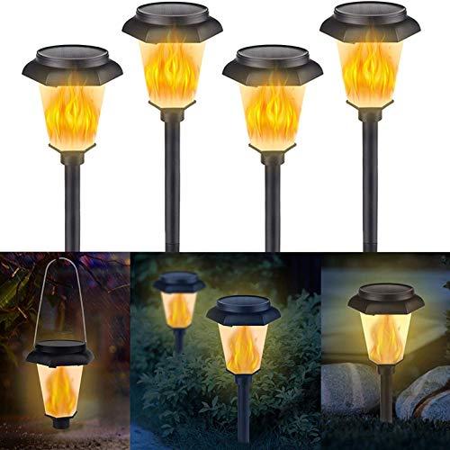 Msoah Lámparas Solares para Jardín, Luces Solaes Exterior LED Impermeables Decoración Iluminación De Jardín para Caminos Patio Césped, Encendido/Apagado Automático