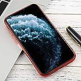 Xyamzhnn For iPhone 11 Pro Transparente TPU Anti-Gota y la Caja Protectora Impermeable del teléfono móvil de protección Total (Color : Red)