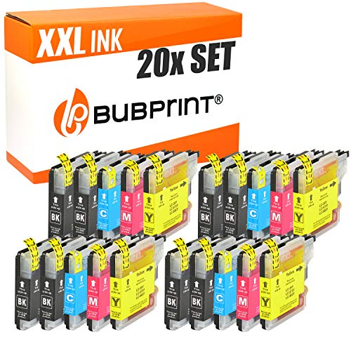 20 Bubprint Druckerpatronen kompatibel für Brother LC-985 für DCP-J125 DCP-J140W DCP-J315W DCP-J515W MFC-J220 MFC-J265W MFC-J410 MFC-J415W Multipack