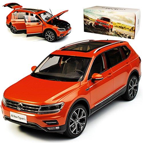 Paudi Volkwagen Tiguan II SUV L Allspace Orange 2. Generation Ab 2016 1/18 Modell Auto