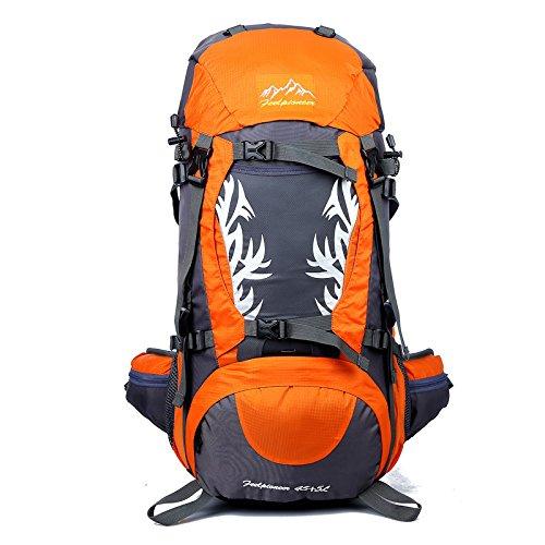 50L Sacs À Dos Sports Activités De Plein Air Équitation Escalade De Montagne Vélos Ski Randonnée Randonnée Sacs À Dos Orange