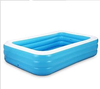 BBG Home Padded Essential Bathtub,Blue + White Inflatable Family Adult Large Inflatable Foam Bottom Antique Skate Bathtub Bath,Convenient Storage Bathtub,1.5m