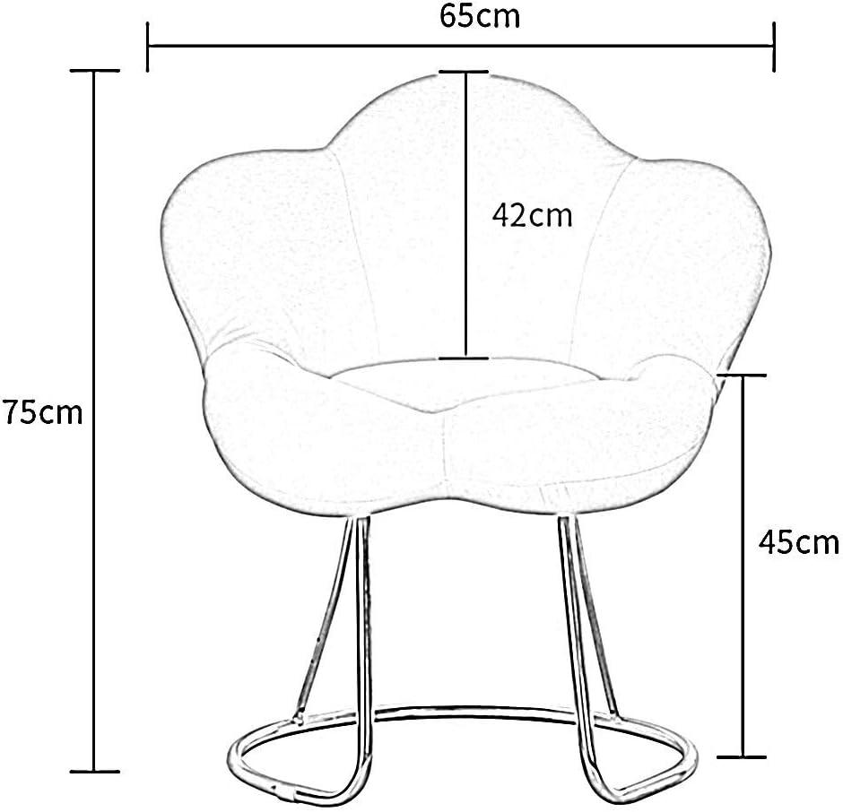 Dossier Chaise de salle à manger Chaise de réception Ménage Paresseux Famille de loisirs Moderne Chaise de salon en tissu restaurant Café (Color : A) A