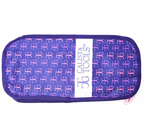Calista Perfecter Pro Grip Digital Temp Control Ionic Round Hot Brush & Bag (1 INCH, Pink)