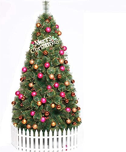 QTQZ Árbol de Navidad artificial de PVC con bayas rojas con soporte...