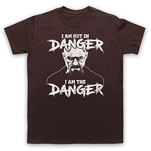 The Guns Of Brixton Breaking Bad I Am Not In Danger I Am The Danger Herren T-Shirt, Braun, 2XL