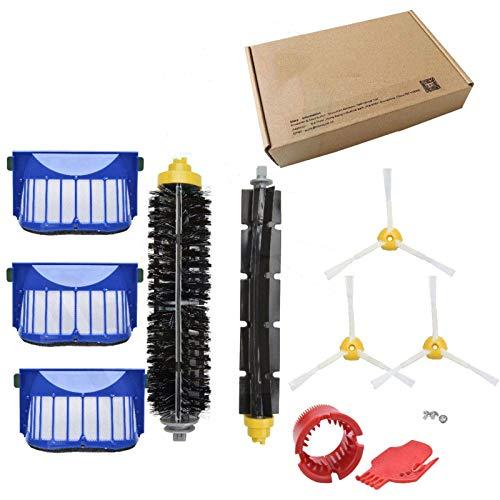 TSAUTOP Newest Filtro de cepillos Laterales de Pincel de Rodillo Principal Multi-Set para IRO-BOT roo-MBA 645 655 675 676 677 para Piezas de Repuesto IRO-BOT Roo-MBA (Color : EY IRO 600 COM 10PK)