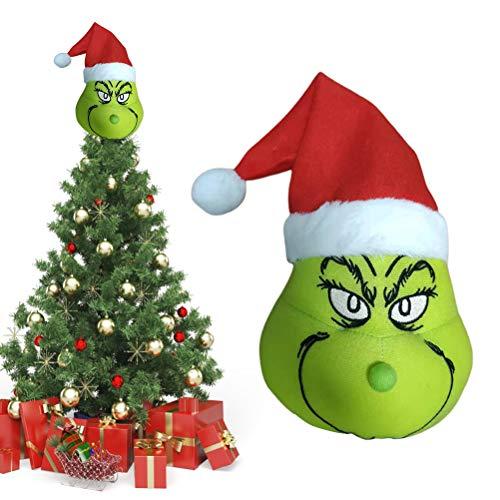 Sarple Weihnachtsbaumspitze Grinch Weihnachtsbaum Topper Ornament Schöne Weihnachten Grinch Plüschtier Spielzeug Winter Xmas Home Decor