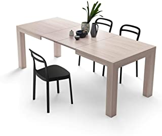 Mobili Fiver, Table Extensible Cuisine, Iacopo, Orme Perle, 140 x 90 x 77 cm, Mélaminé, Made in Italy