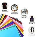 FOCCTS 25pcs Hojas Adhesivas para Manualidades Papel de Vinilo Textil Imprimible Colores para Tela de Camisetas,Pegatinas,Tejidos Varios (25 * 30cm)