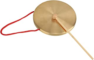 BQLZR Alto Hand Gong Chapel Copper Cymbals Percussion 15.5 Diameter Opera Gong