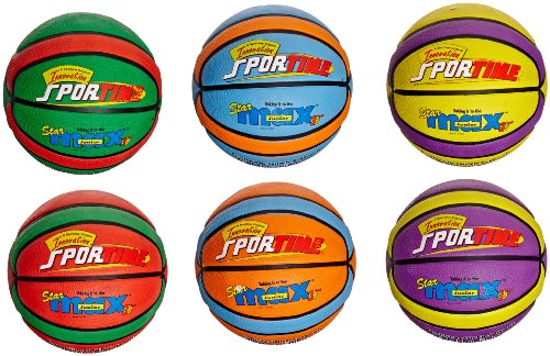 Amazing Deal SportimeMax Junior 27-1/2 in Star Basketballs, Set of 6