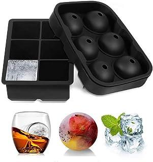 3 st/set sfär rund iskubsbricka, silikon isbricka iskubsform, glassmaskare, isbollstillverkare, bakning kakform chokladfor...