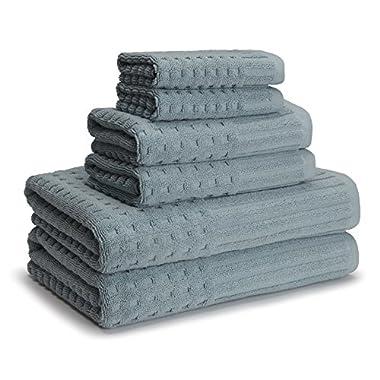 Kassatex Qss-256-Slb Spa Towel Set of 6, Slate Blue