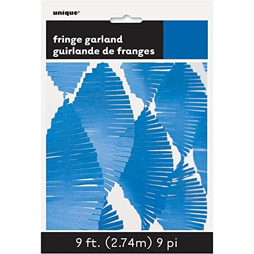 Unique Party 63639 - 9ft Royal Blue Tissue Paper Fringe Garland