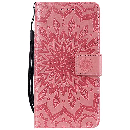Jeewi Hülle für Nokia 1Plus Hülle Handyhülle [Standfunktion] [Kartenfach] [Magnetverschluss] Tasche Etui Schutzhülle lederhülle klapphülle für Nokia 1 Plus - JEKT032117 Rosa