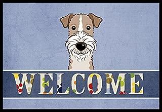 Caroline's Treasures BB1433JMAT Wire Haired Fox Terrier Welcome Indoor or Outdoor Mat, 24 x 36