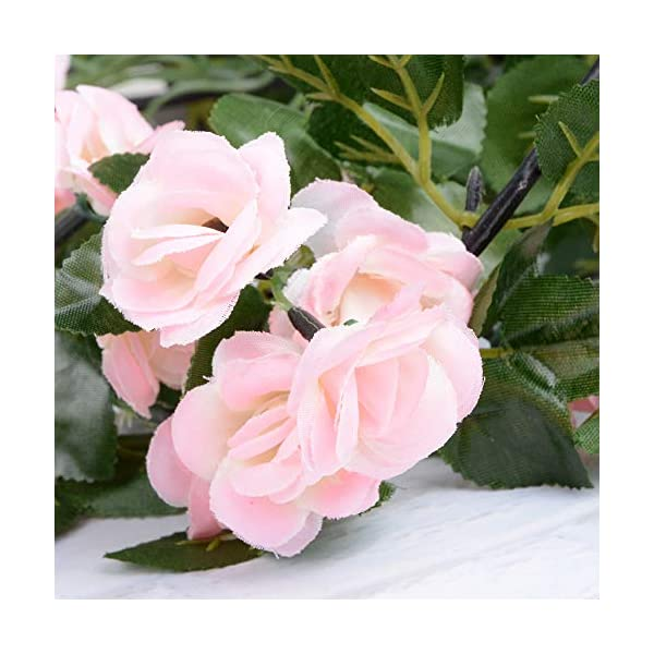 VINFUTUR Guirnalda de Rosas Artificiales 1.8m×2pcs, Flores Guirnalda Artificial Vid de Rosas Falsas Colgante Plantas con…
