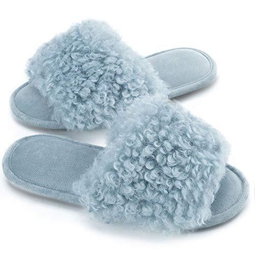 DL 女士可爱毛绒拖鞋 3色可选