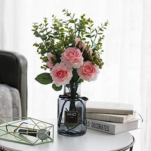 Spetich Flor Artificial nórdica ins simulación Flor Sala de Estar Flor Falsa Conjunto Floral Conjunto de Mesa Ramo de Flores decoración Adornos