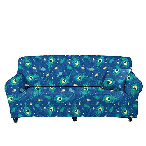 HXTSWGS Jacquard Stretch Sofaüberzug,3D Five-Pointed Star Printed Sofa Cover, Stretch Sofa Cover, Living Room Sofa Cushion-Color4_235-300cm