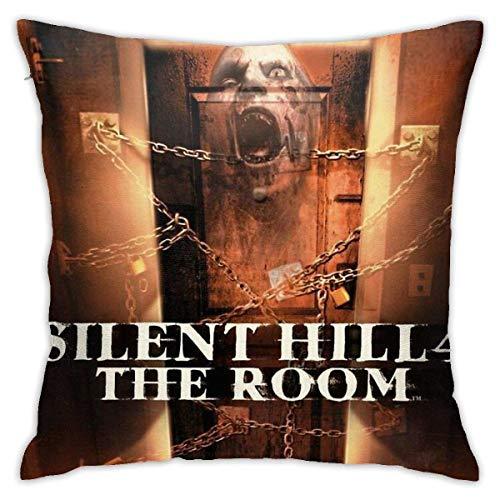 Hdadwy Silent Hill 4 The Room Ps2 Box Art Cover Brazz Fundas de Almohada Decorativas para el hogar Cama Sofá Cojín Funda de Almohada Cuadrada 18x18 Pulgadas