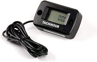 Jayron JR-HM019R LCD digital a prueba de agua Motor de gasolina Contador de horas Tacómetro Medidor de mantenimiento para paramotores, motosierras,generadores,barcos modelo