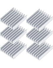 Akineko ヒートシンク W22.5×D22.5×H5mm【6個セット】無線LANルーター/ACアダプター/充電器などの熱暴走対策 【3M熱伝導両面テープ付き】【安心の18ヶ月保証】アルミニウム製ヒートシンク M.2 SSD用ヒートシンク