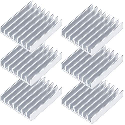 Akineko ヒートシンク W22.5×D22.5×H5mm【6個セット】無線LANルーター/ACアダプター/充電器などの熱暴走対...