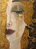 Adouftwo Gustav Klimt Hübsches Mädchen Gemälde An Der Wand Leinwand Poster Drucken Klassische Berühmte Kunst Für Wohnzimmer Wohnkultur