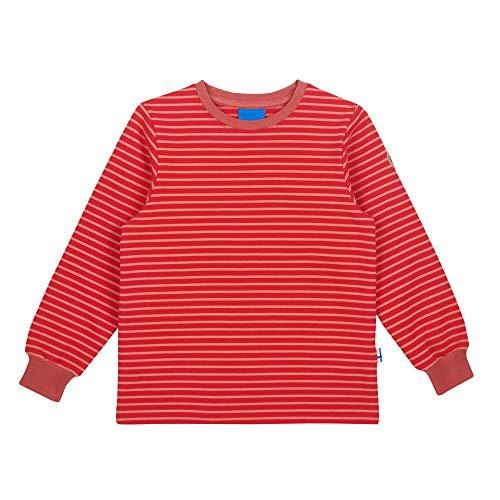 Finkid Rivi Gestreift-Rot, Kinder Sweaters und Hoodies, Größe 100-110 - Farbe Red - Rose