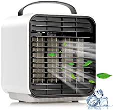 Personal Evaporative Air Conditioner Fan, Portable Space Air Cooler, Desktop Fan, USB Rechargeable Battery Mini Air Circulator Quiet for Home Bedroom Car Office Outdoor Camping