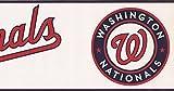 Washington Nationals MLB Baseball Team Fan Sports Wallpaper Border Modern Design, Roll 15' x 6'