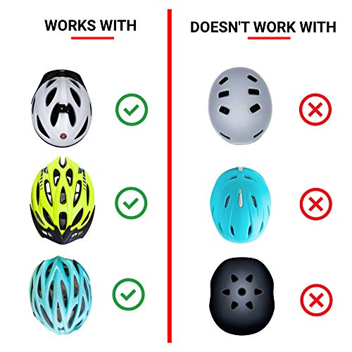 Greerride Rechargeable Bike Helmet Light - Bike Helmet Lights for Night Riding, Bicycle Helmet Light and Safety Cycling Helmet Light for Bike Helmet with Flashing and Steady Modes