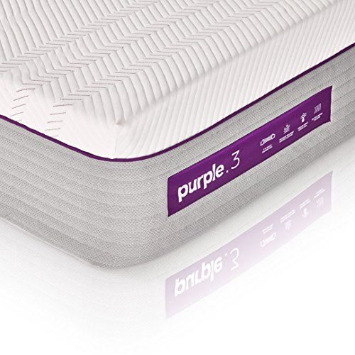 The New Purple Mattress, with Soft 3' Smart Comfort Grid Pad and Cooling Comfort-Stretch Cover (Twin XL)