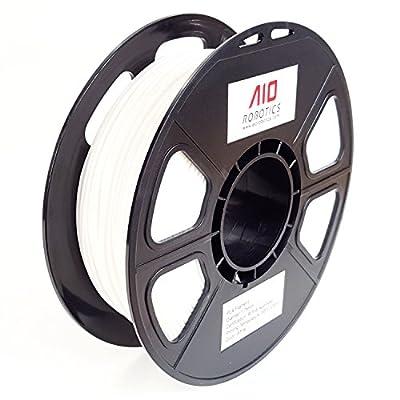 AIO Robotics Premium 3D Drucker Filament, PLA, 0,5 kg Spule, Genauigkeit +/- 0,02 mm, Durchmesser 1,75 mm, Weiss